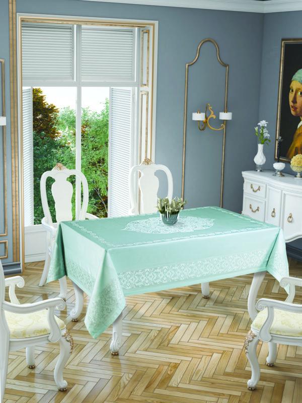 Скатерть Tropik Home Paisley Mint 9957-9 150x220 (CB14003363) Бирюзовый фото