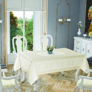 Скатерть Tropik Home Priencly Cream 5698-2 150×220