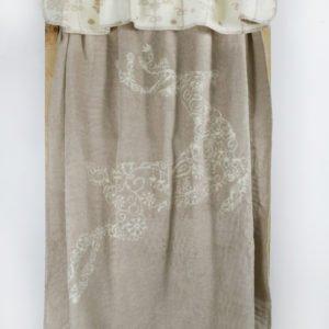 Плед Lotus Mono — Deer бежевый 135×180