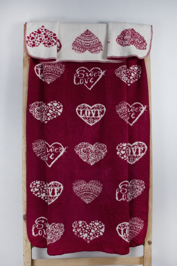 купить Плед Lotus Mono - Sweet Love красный (2000022195898)