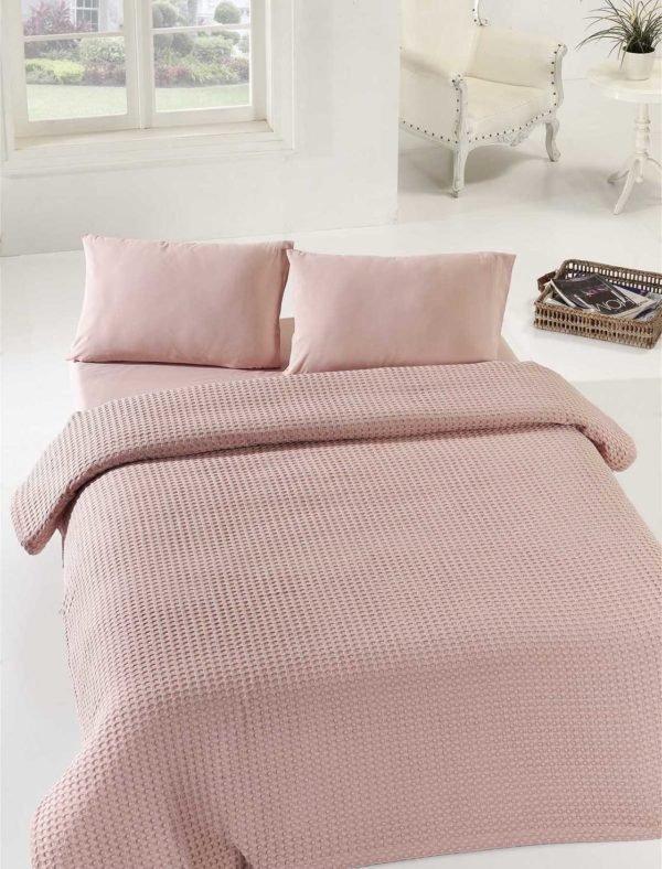 Покрывало пике Eponj Home Burumcuk gul kurusu 200x235 (sv-2000022181617) Розовый фото