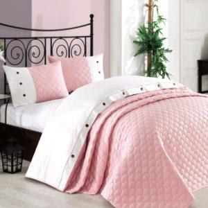 Покрывало с наволочками Halley Orient розовый 240x260 (sv-2000022173940) Розовый фото