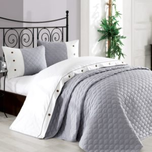 Покрывало с наволочками Halley Orient серый 240×260