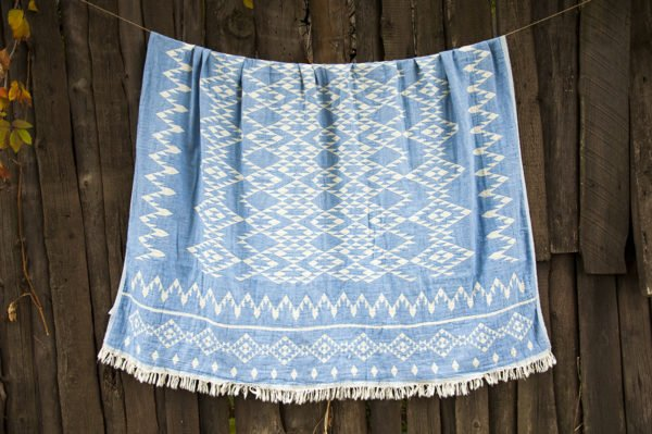 Покрывало Barine Kilim Throw Blue 130x170 (sv-2000022087988) Голубой фото