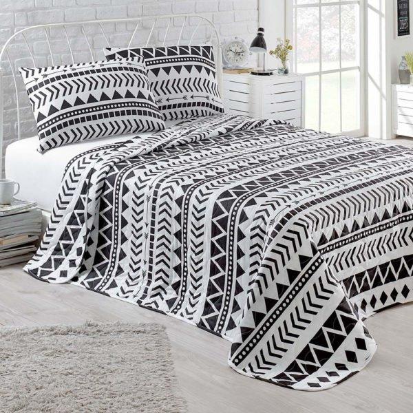 Покрывало Eponj Home B&W Artec  (sv-2000022170154-v) Черный Белый фото