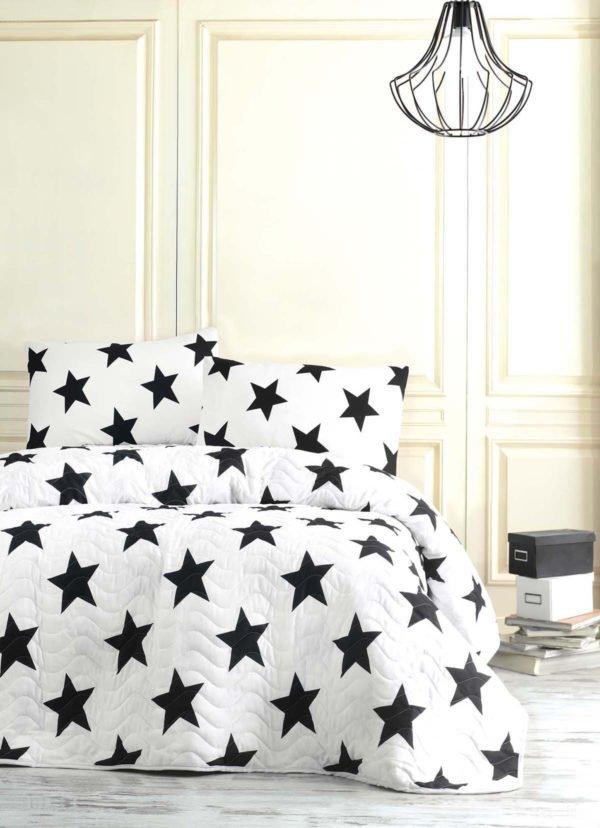 Покрывало Eponj Home B&W BigStar  (sv-2000022170161-v) Черный|Белый фото
