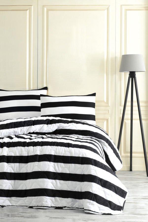Покрывало Eponj Home B&W Line  (sv-2000022170208-v) Черный|Белый фото