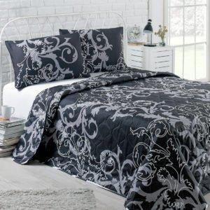 Покрывало Eponj Home B&W Mare черный 200x220 (sv-2000022170222) Черный фото