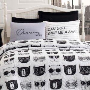 Покрывало Eponj Home B&W Melone siyah-beyaz 200x220 (sv-2000022187916) Белый фото