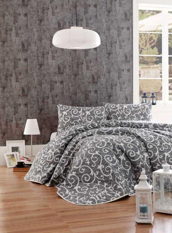 Покрывало Eponj Home B&W Merle siyah 200x220 (sv-2000022189156) Серый фото