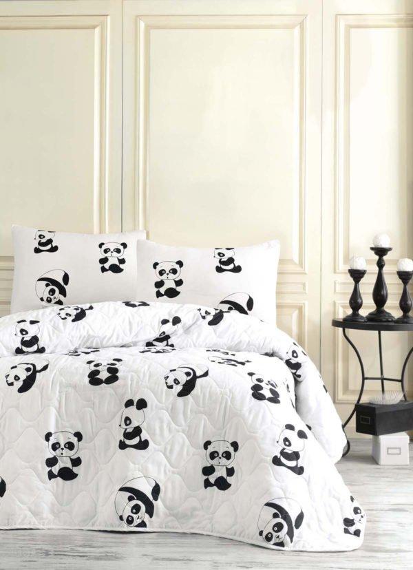 Покрывало Eponj Home B&W Panda  (sv-2000022170239-v) Белый фото