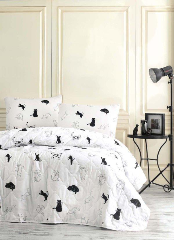 Покрывало Eponj Home B&W Patte  (sv-2000022170246-v) Белый фото