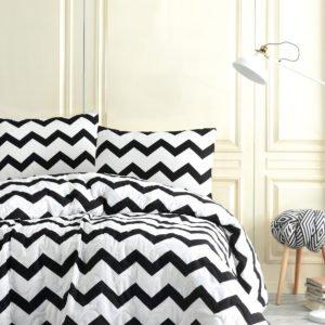 Покрывало Eponj Home B&W SmallZigzag  (sv-2000022170277-v) Черный|Белый фото
