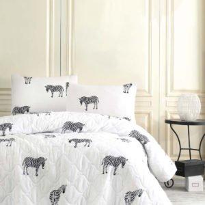 Покрывало Eponj Home B&W Zebra  (sv-2000022170284-v) Белый фото