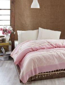 Покрывало Eponj Home Buldan Pike Hereke Pembe 200x235 (sv-2000022182003) Розовый фото