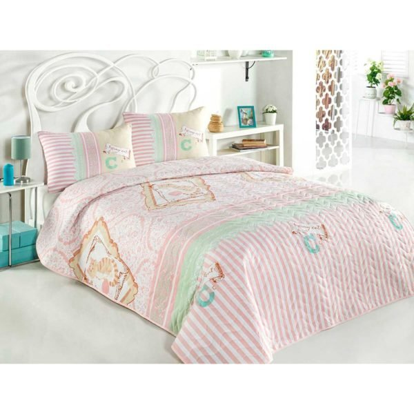 Покрывало Eponj Home LovemeCat mint 200×220