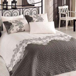 Покрывало Eponj Home Mixscarlet bej 160x220 (sv-2000022189200) Серый|Кремовый фото