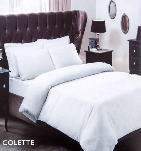 Постельное белье TAC жаккард Colette beyaz 200x220 (sv-2000022095587) Белый фото