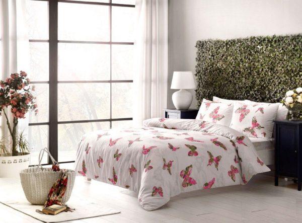 Постельное белье TAC ранфорс Rosalie pembe 200x220 (sv-2000008487757) Розовый фото