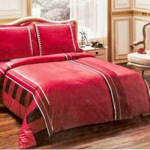 Постельное белье TAC сатин Delux Mabel kirmizi v04 160x220 (2 шт) (sv-2000008476003) Красный фото