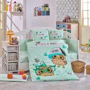 Детское Постельное Белье Hobby Cool Baby Ментоловый 100×150