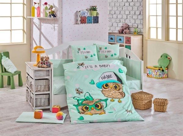 купить Детское Постельное Белье Hobby Cool Baby Ментоловый (8698499129375)