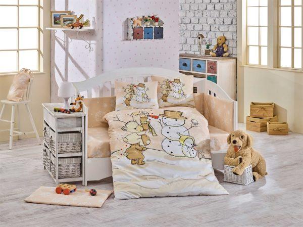 купить Детское Постельное Белье Hobby Snowball Бежевый (8698499129320)