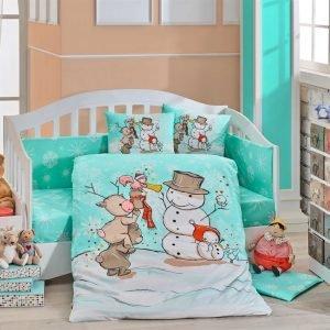 купить Детское Постельное Белье Hobby Snowball Ментоловый (8698499129313)