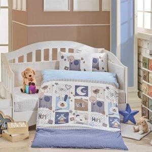 купить Детское Постельное Белье Hobby Sweet Home Голубой (8698499129399)