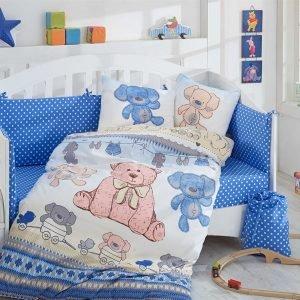 купить Детское Постельное Белье Hobby Tombik Голубой (8698499125094)