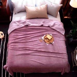 купить Плед меховой Love You розовый (m015293)