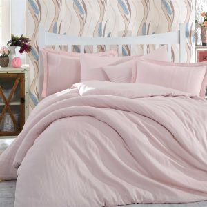 Постельное Белье Hobby Exclusive Sateen Diamond Stripe Розовый