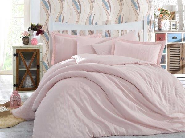 купить Постельное Белье Hobby Exclusive Sateen Diamond Stripe Розовый (IZ-8698499127999-v)