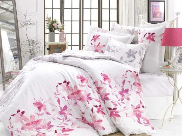 купить Постельное Белье Hobby Exclusive Sateen Lucia Розовый (8698499132474)