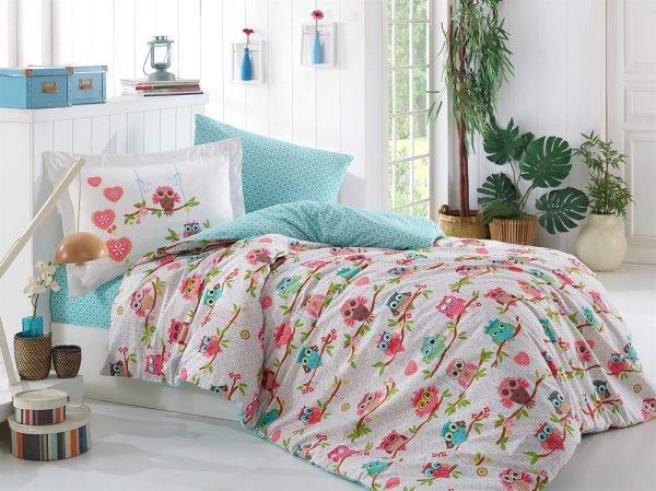 купить Постельное Белье Hobby Poplin Candy Розовый (8698499123106)