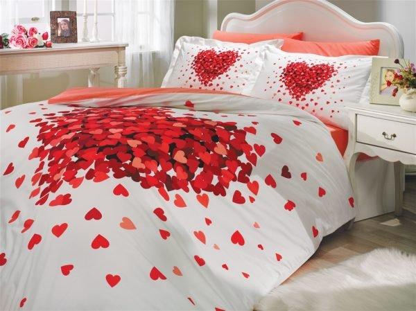 купить Постельное Белье Hobby Poplin Juana Красный (8698499109209)