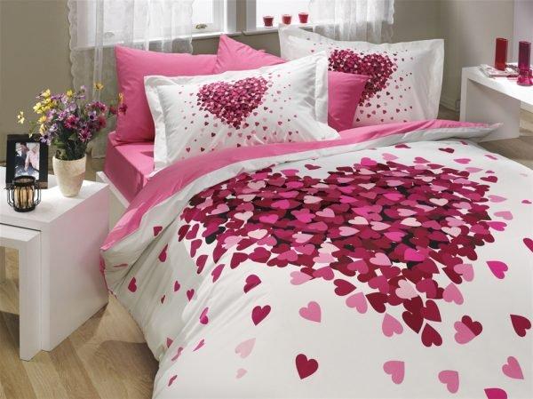 купить Постельное Белье Hobby Poplin Juana Розовый (8693678546820)