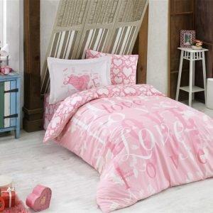 купить Постельное Белье Hobby Poplin Love Розовый (8698499130647)
