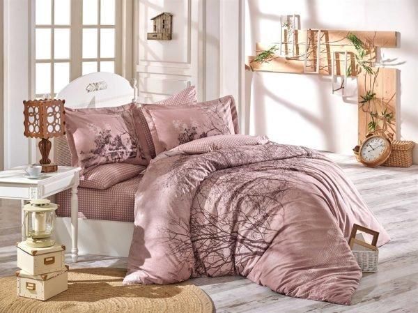 купить Постельное Белье Hobby Poplin Margherita Розовый (8698499132481)