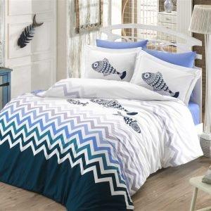 Постельное Белье Hobby Poplin Ocean Голубой 200×220