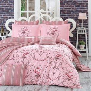 Постельное Белье Hobby Poplin Ornella Розовый 160×220 (2 шт)
