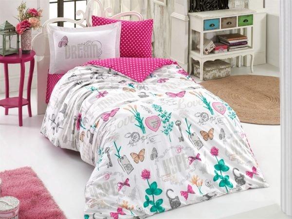 купить Постельное Белье Hobby Poplin Rossela Розовый (8698499132504)