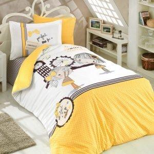 купить Постельное Белье Hobby Poplin Smile Желтый (8698499130722)