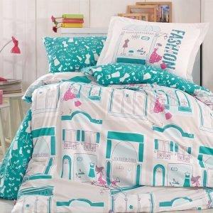 Постельное Белье Hobby Poplin Sonia Бирюзовый 160×220
