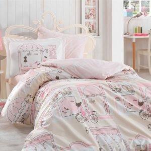 Постельное Белье Hobby Poplin Sonia Розовый 160×220