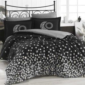 Постельное Белье Hobby Poplin Stars Черный