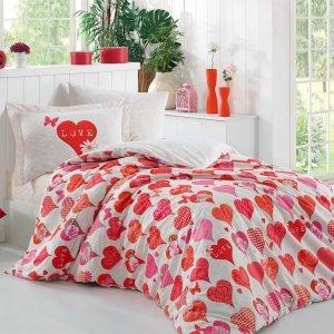 Постельное Белье Hobby Poplin Vera Красный 160×220