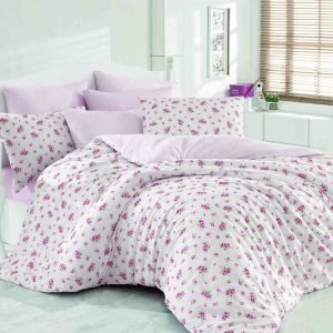 Постельное Белье Majoli Pinky Pink Lila 200×220