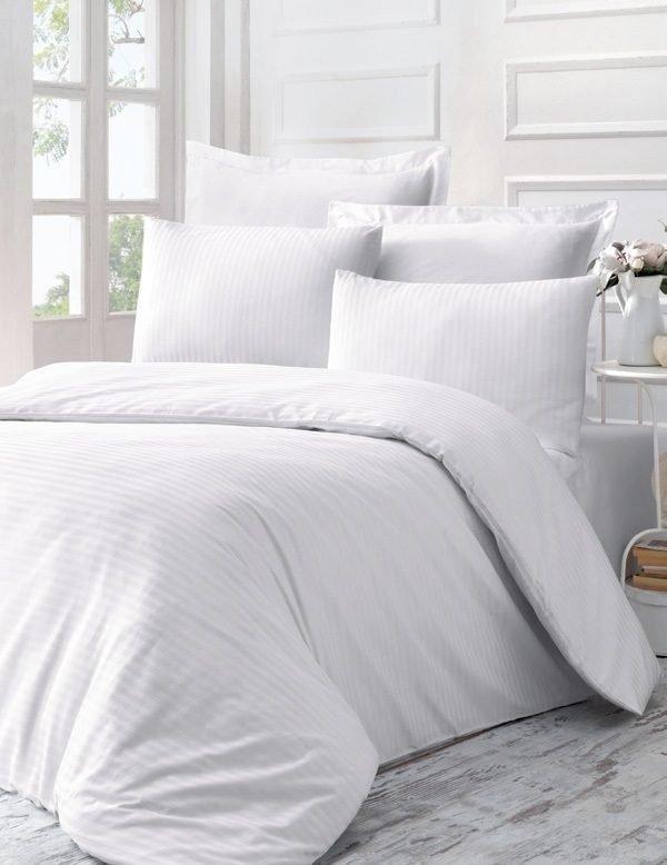 купить Постельное Белье Victoria Stripe Sateen Line Белый (2200000541086)