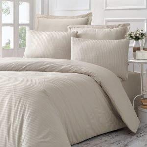 Постельное Белье Victoria Stripe Sateen Line Кремовый 200×220